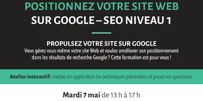 Positionnez votre site web sur Google – SEO niveau 1