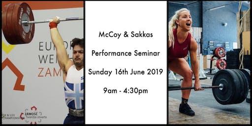 McCoy + Sakkas Performance Seminar