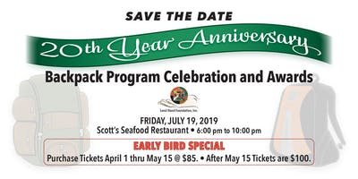 20th Year Anniversary Backpack Program & Awards