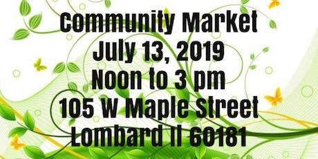 July Community Market tickets
