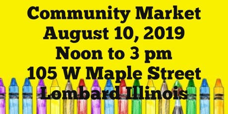 August Community Market tickets