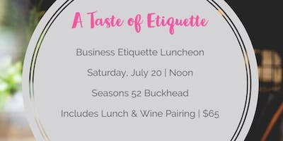 A Taste of Etiquette - Business Dining Luncheon