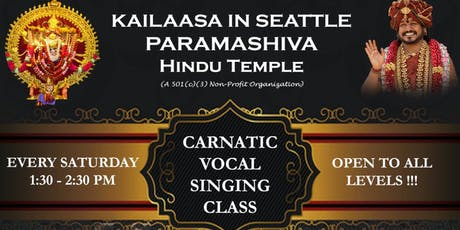 Carnatic Vocal Music Classes tickets
