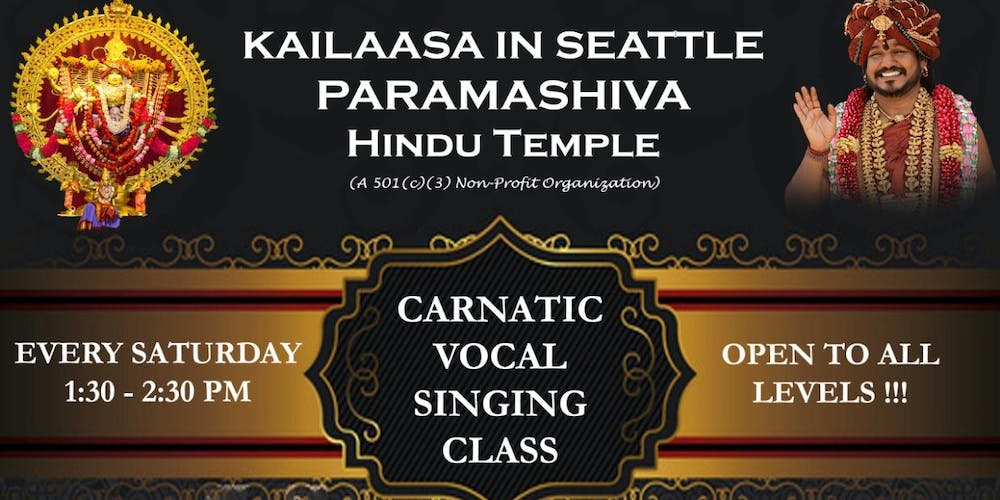 Carnatic Vocal Music Classes Tickets, Multiple Dates