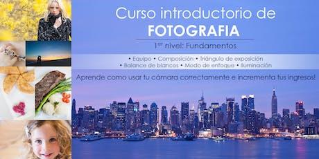 CURSO INTRODUCTORIO DE FOTOGRAFIA tickets