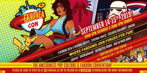 Fangaea 2019 - The Awesomest Pop Culture and Fandom Convention