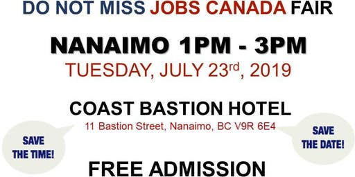 FREE: Nanaimo Job Fair - July 23rd 2019
