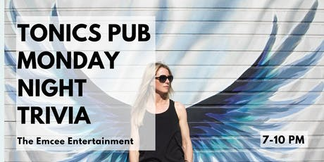 Monday Night Trivia @ Tonics! tickets