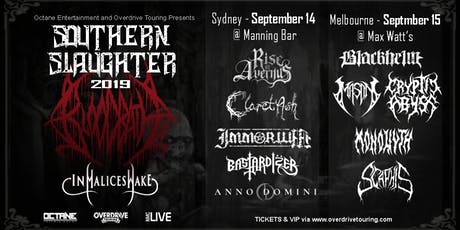 Southern Slaughter 2019 - BLOODBATH VIP UPGRADE (Sydney) tickets
