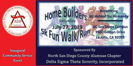 North San Diego County Alumnae Chapter, Homebuilders 5k Fun Run/Walk. tickets