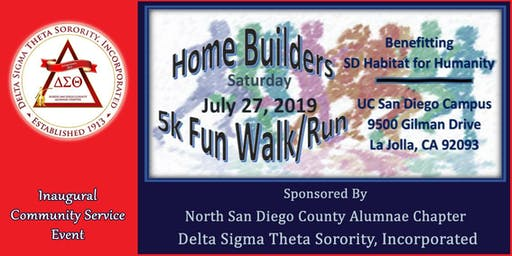 North San Diego County Alumnae Chapter, Homebuilders 5k Fun Run/Walk.