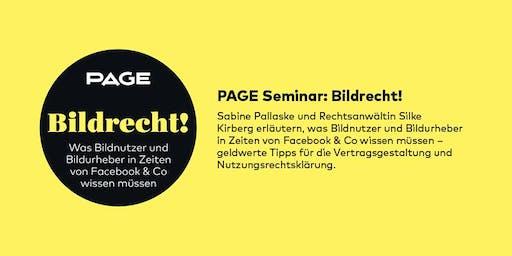 PAGE Seminar »Bildrecht!« mit Sabine Pallaske und Silke Kirberg