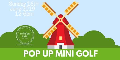 Morden Park House Pop Up Mini Golf