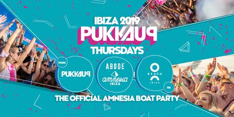 Pukka Up - Thursday Sunset Boat Party with ABODE at Amnesia tickets