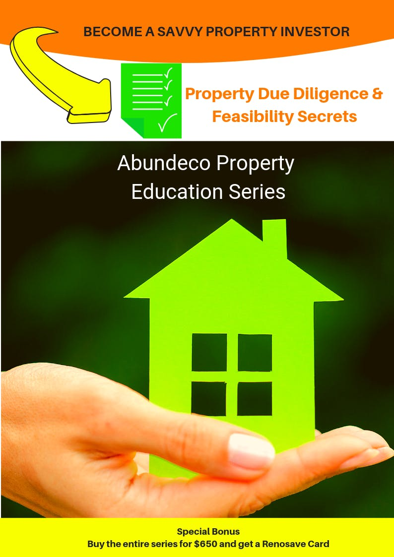 Property Due Diligence & Feasos Abundeco Property Education Program 2019