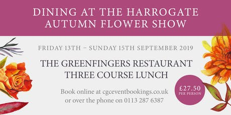 The Greenfingers Restaurant - 13th September 2019 tickets