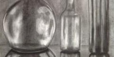 Mastering Reflections | Large Scale Charcoal Drawing