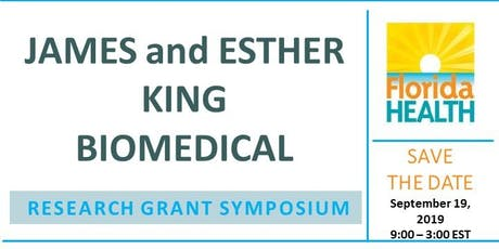 James and Esther King Biomedical Research Grant Symposium tickets