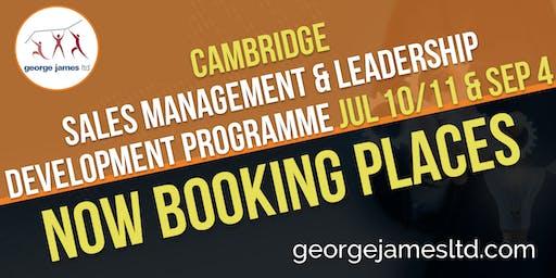 Sales Management & Leadership Development Programme - Cambridge - Jul 10/11 & Sep 4 2019