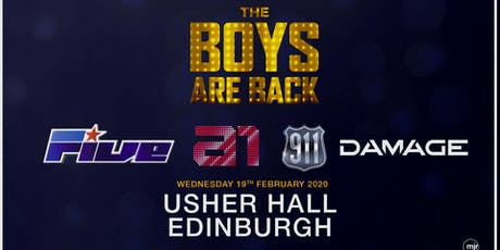 The Boys are back! 5ive/A1/Damage/911 (Usher Hall, Edinburgh) tickets