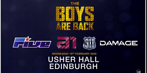 The Boys are back! 5ive/A1/Damage/911 (Usher Hall, Edinburgh)