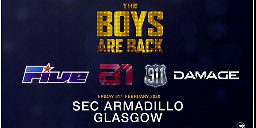 The Boys are back! 5ive/A1/Damage/911 (SEC Armadillo, Glasgow)