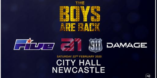 The Boys are back! 5ive/A1/Damage/911 (City Hall, Newcastle)