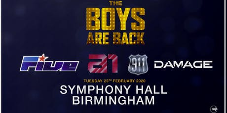 The boys are back! 5ive/A1/Damage/911 (Symphony Hall, Birmingham) tickets