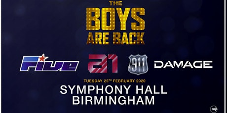 The boys are back! 5ive/A1/Damage/911 (Symphony Hall, Birmingham) tickets