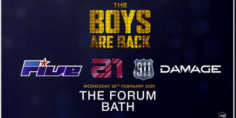 The boys are back! 5ive/A1/Damage/911 (Forum, Bath) tickets