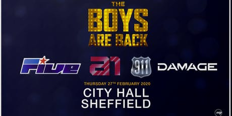 The boys are back! 5ive/A1/Damage/911 (City Hall, Sheffield) tickets