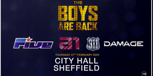 The boys are back! 5ive/A1/Damage/911 (City Hall, Sheffield)