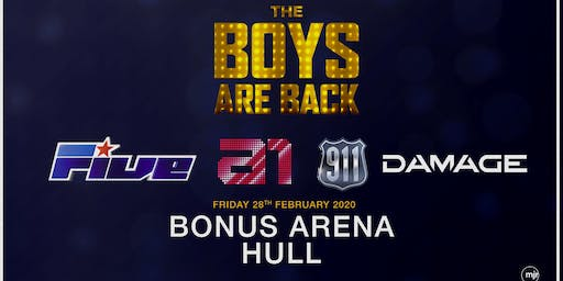 The boys are back! 5ive/A1/Damage/911 (Bonus Arena, Hull)