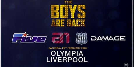 The boys are back! 5ive/A1/Damage/911 (Olympia, Liverpool) tickets