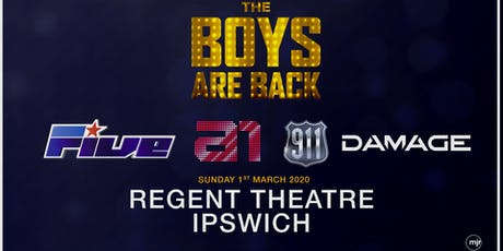 The boys are back! 5ive/A1/Damage/911 (Regent Theatre, Ipswich) tickets