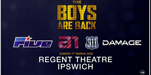 The boys are back! 5ive/A1/Damage/911 (Regent Theatre, Ipswich) - M&G Upgrade