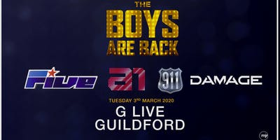 The boys are back! 5ive/A1/Damage/911 (G Live, Guildford)
