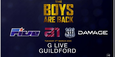 The boys are back! 5ive/A1/Damage/911 (G Live, Guildford) tickets