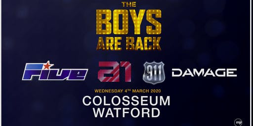 The boys are back! 5ive/A1/Damage/911 (Colosseum, Watford)