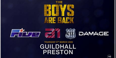 The boys are back! 5ive/A1/Damage/911 (Guildhall, Preston) tickets