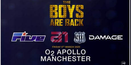 The boys are back! 5ive/A1/Damage/911 (O2 Apollo, Manchester) tickets