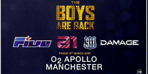 The boys are back! 5ive/A1/Damage/911 (O2 Apollo, Manchester)