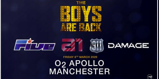 The boys are back! 5ive/A1/Damage/911 (O2 Apollo, Manchester)