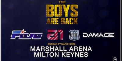 The boys are back! 5ive/A1/Damage/911 (Marshall Arena, Milton Keynes)