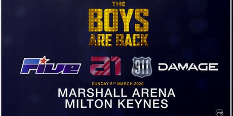 The boys are back! 5ive/A1/Damage/911 (Marshall Arena, Milton Keynes) tickets