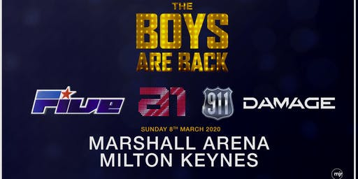 The boys are back! 5ive/A1/Damage/911 (Marshall Arena, Milton Keynes)