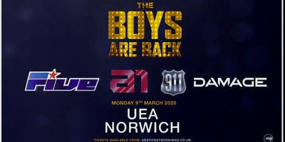 The boys are back! 5ive/A1/Damage/911 (UEA, Norwich)