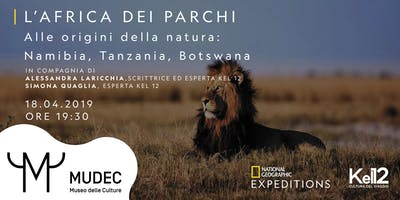 "Conferenza National Geographic Expeditions ""l'Africa dei parchi"""