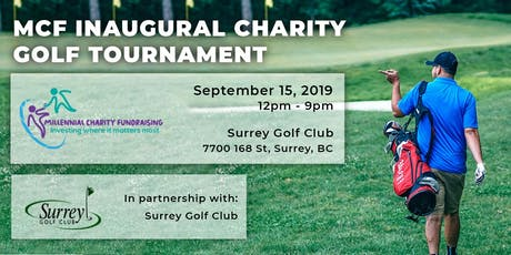 MCF Inaugural Charity Golf Tournament tickets