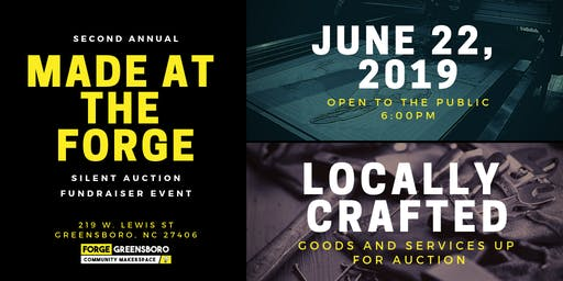 2nd Annual Made at the Forge Auction